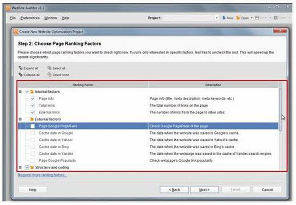 SEO PowerSuite image: The website report recommends specific steps you need to take to optimize your website.