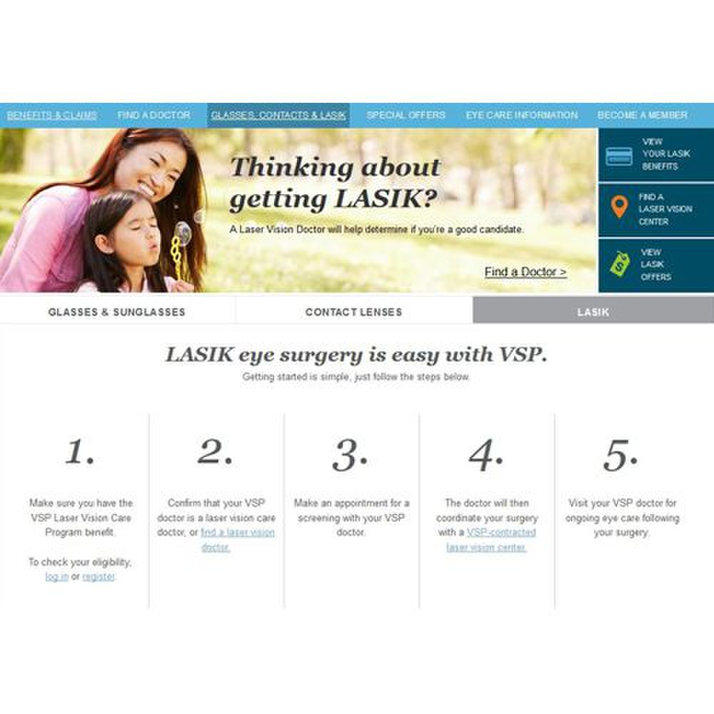 Vision Service Plan image: VSP also offers allowances and resources that cover LASIK procedures.