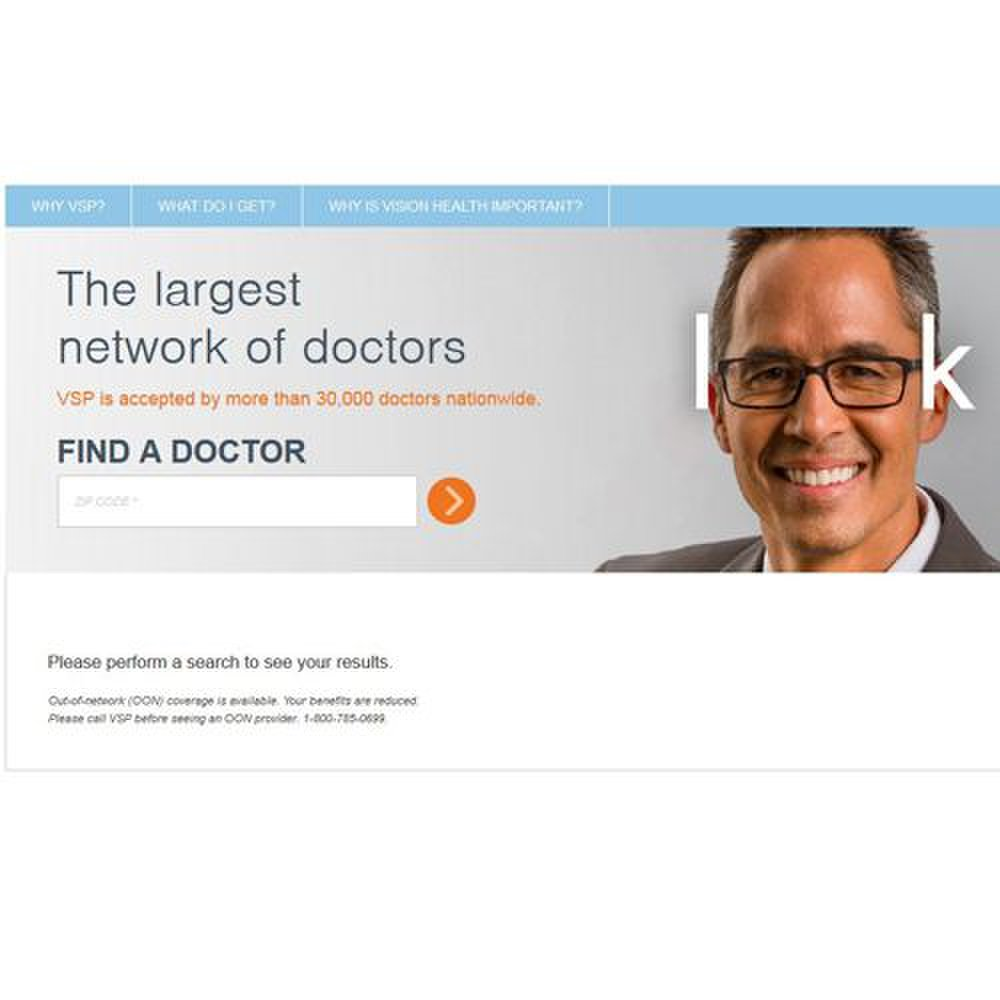 Vision Service Plan image: You can search for local in-network providers through the company's online doctor search.