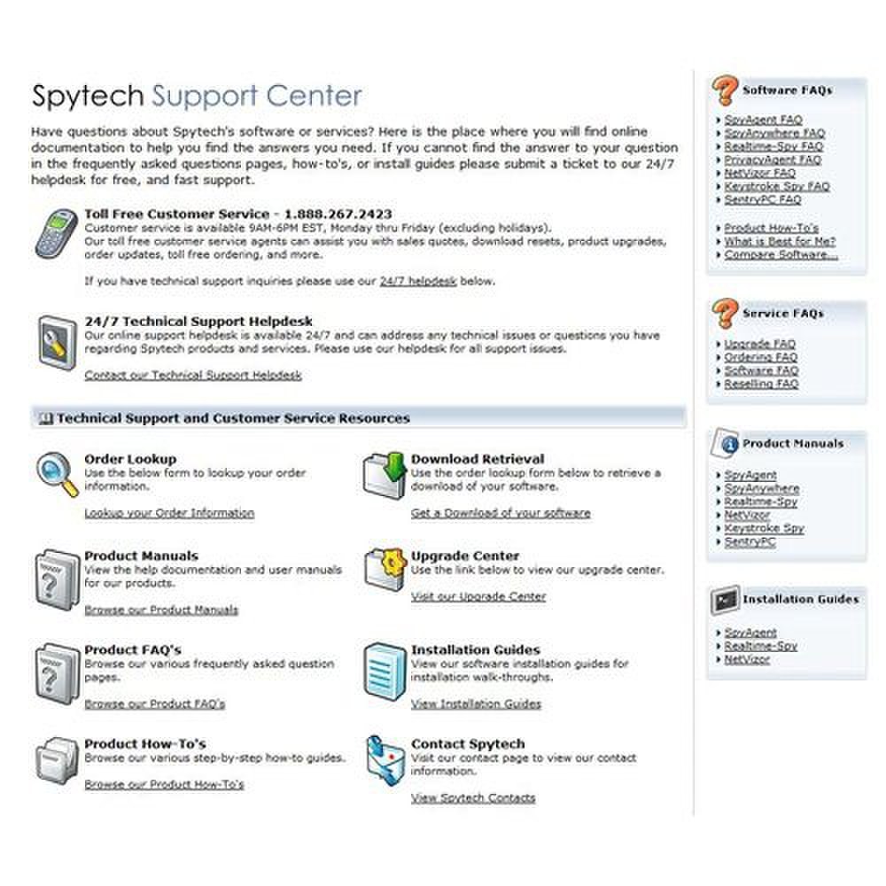 NetVizor image: The support offered through Spytech is extensive.