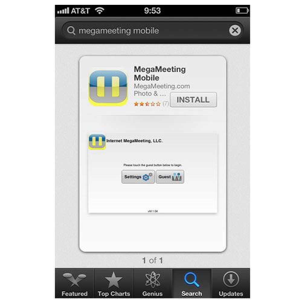 MegaMeeting image: Your attendees can download an app to join in the meeting from a mobile device.