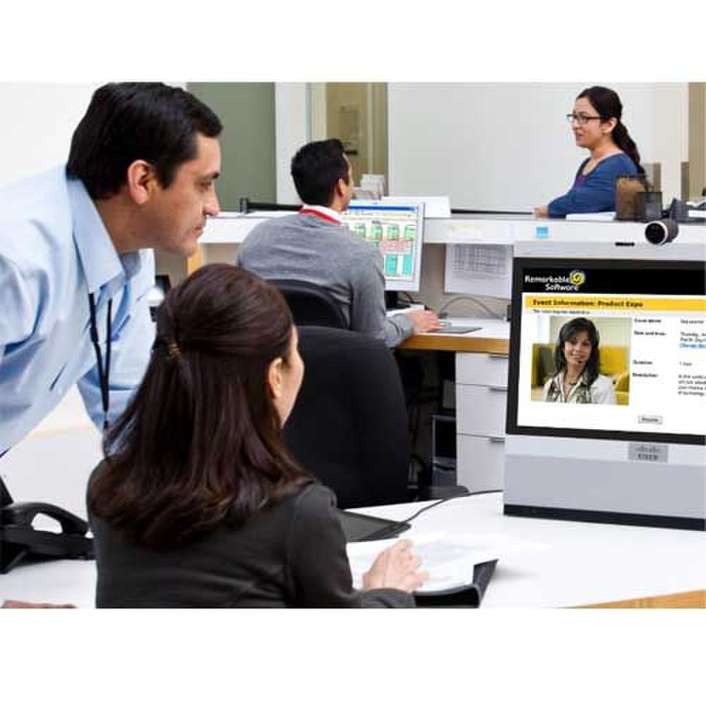 Cisco WebEx image: You can create a webinar information page for attendees to view before the meeting.