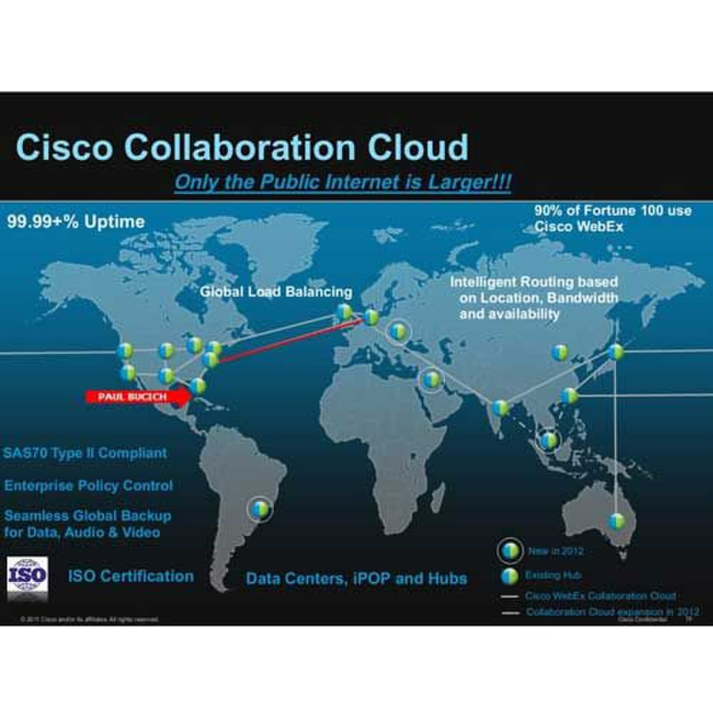 Cisco WebEx image: Cisco WebEx has data centers across the globe to provide high-quality webinar transmissions.