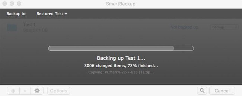 You can monitor the backup set in real time.