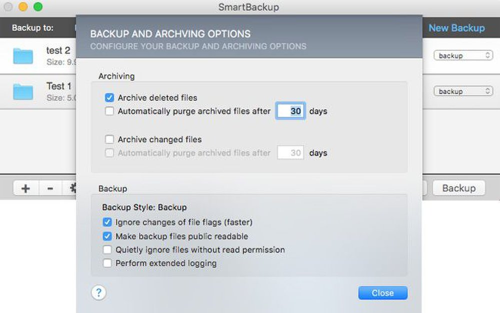 You can customize the archive settings.