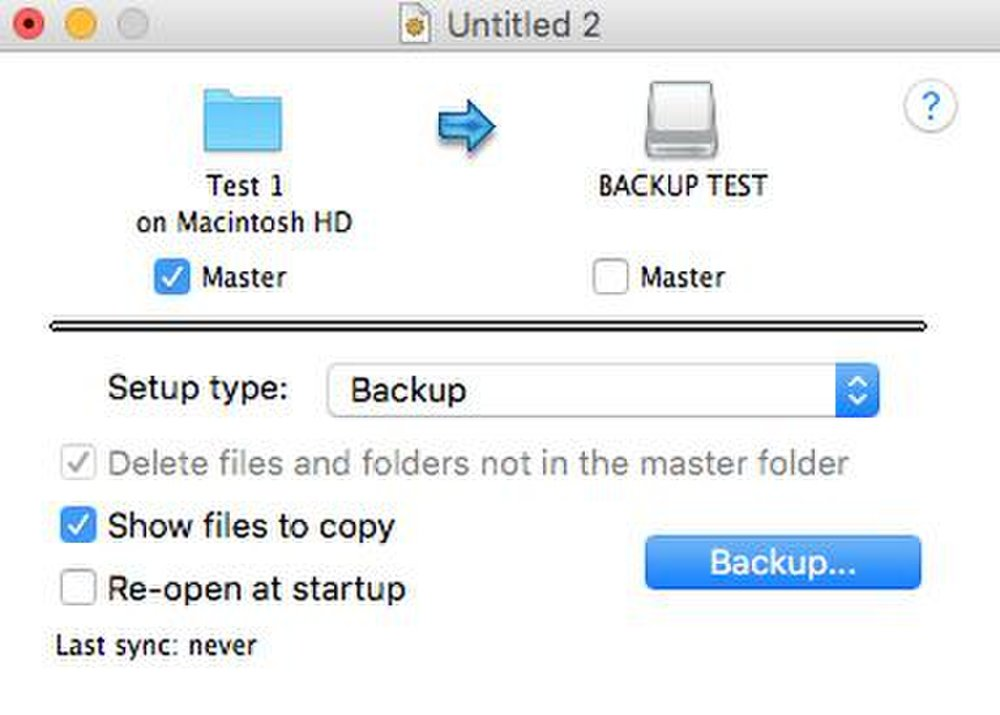 A backup task copies data from one device to another.