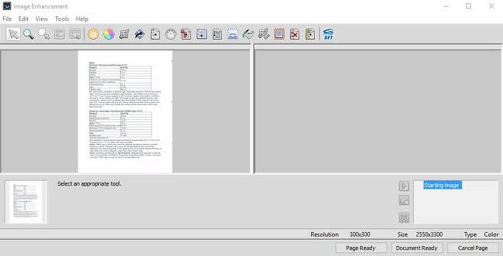 OmniPage image: This OCR software has an image editor to improve the quality of document scans.