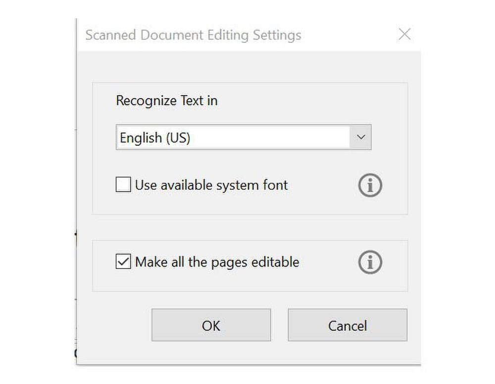 Adobe Acrobat image: The software recognizes over 190 different languages when converting a document.