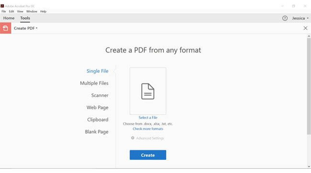 Adobe Acrobat image: You can create an editable PDF from digital documents, mobile images, scanned images and other formats.