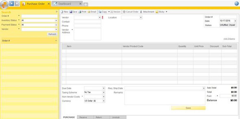 inFlow image: You can easily create purchase orders with inFlow.