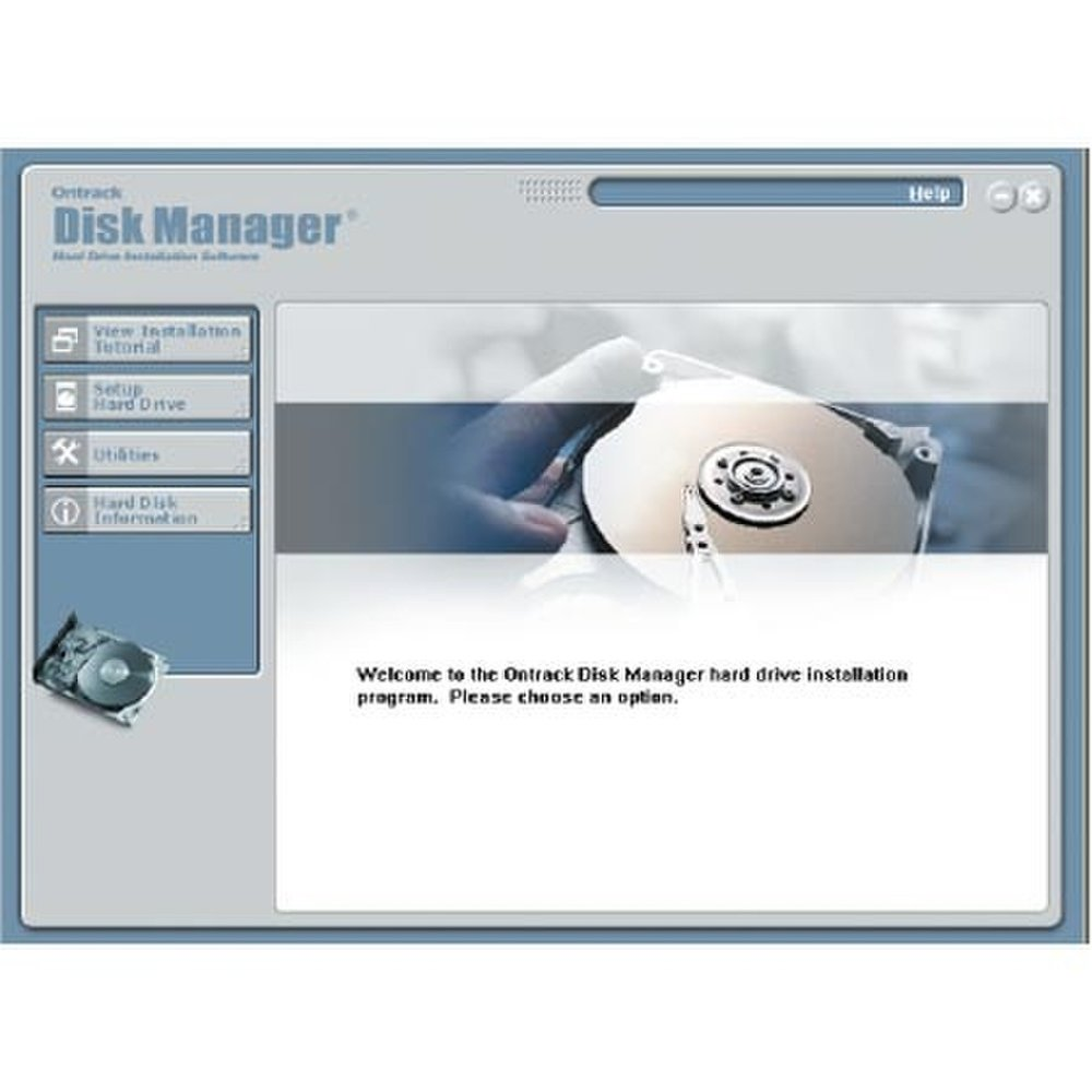 This image shows the main feature page for Kroll Ontrack Disk Manager.