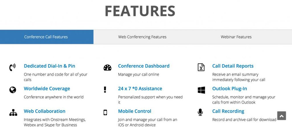 Resources on the company website help you learn the way to use the audio conferencing service so you get the most out of it.