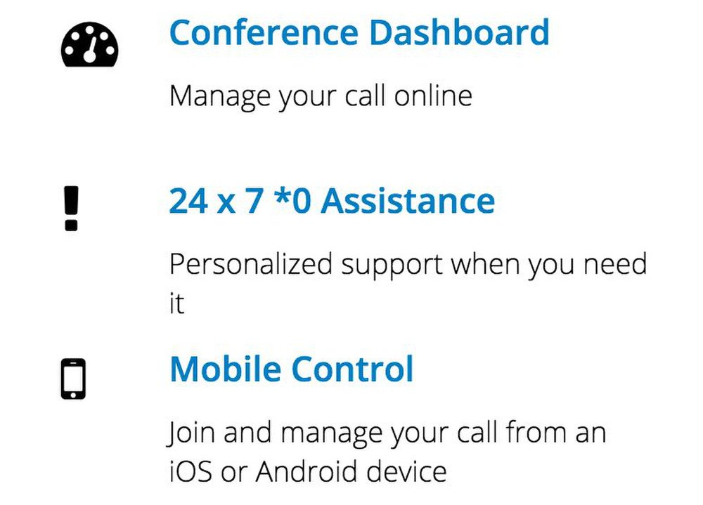 After your calls, you can receive detailed reports about your conference.