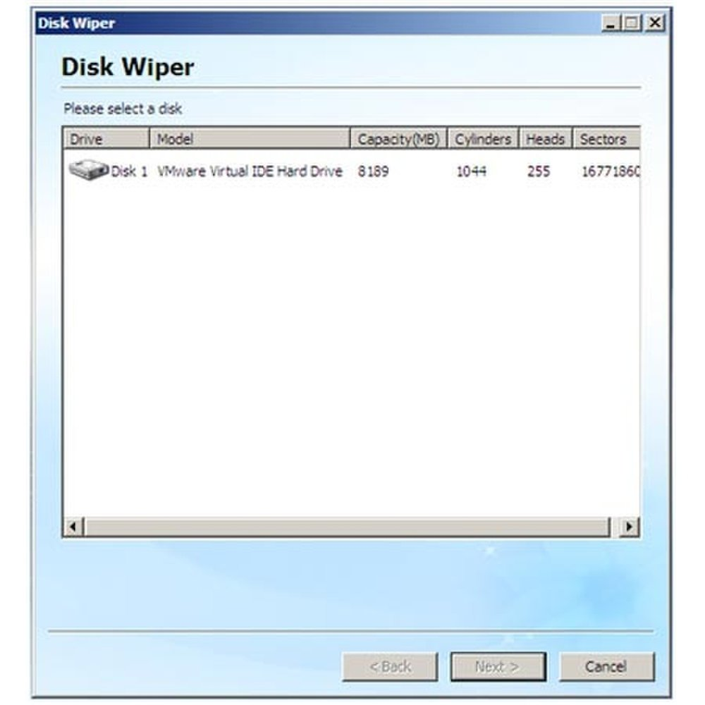 This image shows the disk wipe feature available on Spotmau PowerSuite. This allows you to remove any data from your hard drive.