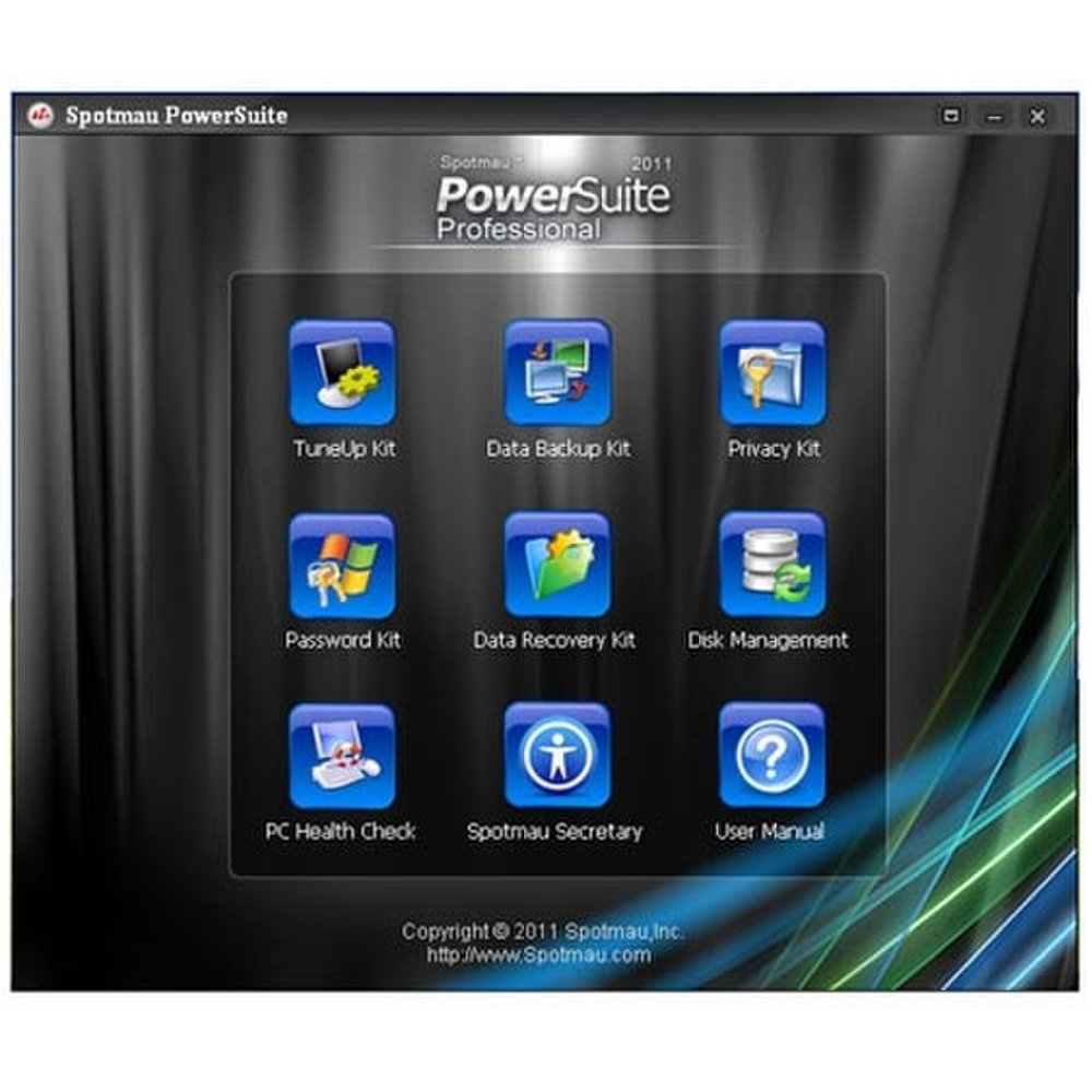 This image shows the Spotmau PowerSuite's page of features.