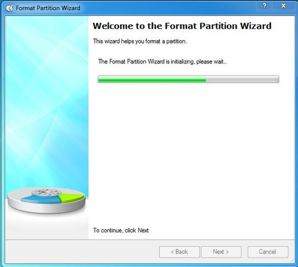 This wizard helps you to format your partition without losing important data. The setup wizards make it easy for anyone to use this product, regardless of their computer background.