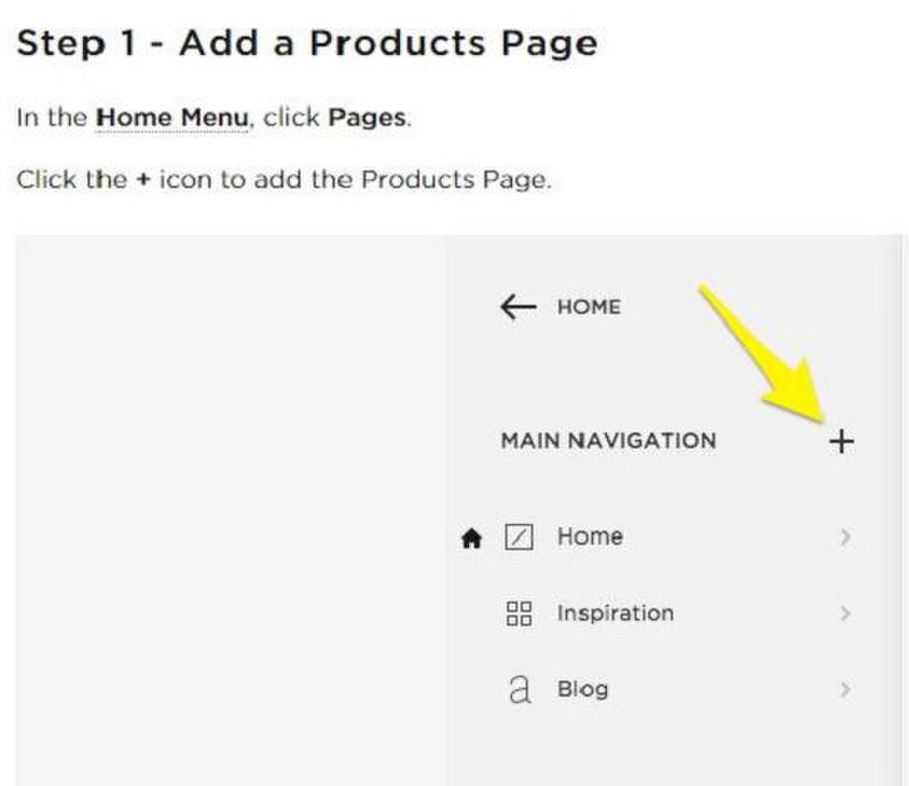 Squarespace image: The functions for the website are already set, so you simply follow directions to add content.