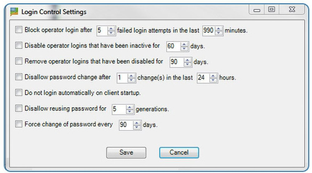 BoldChat: In this image you will see Security Setting options.