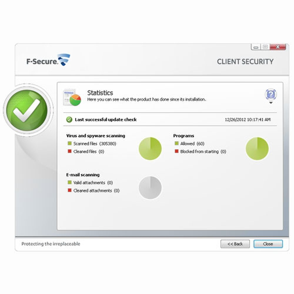 F-Secure Business Suite screenshot image: statistics