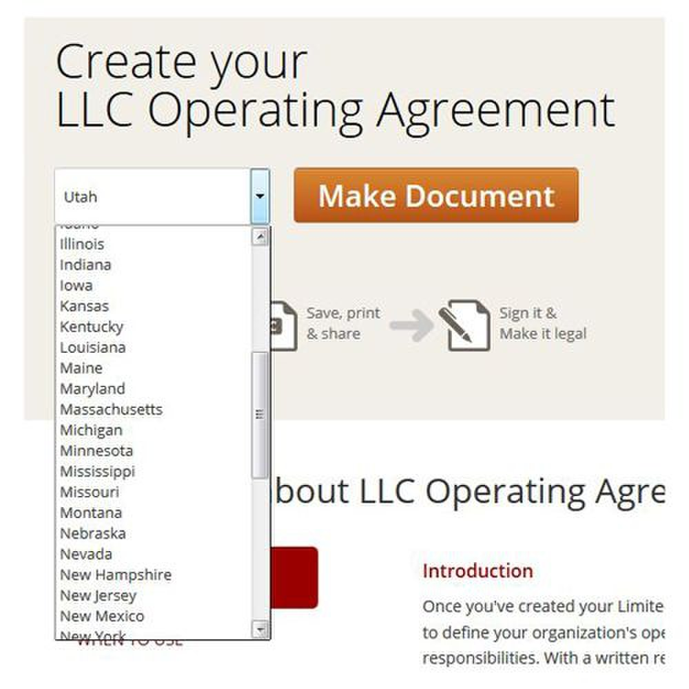 Rocket Lawyer image: Each form conforms to your state's requirements.