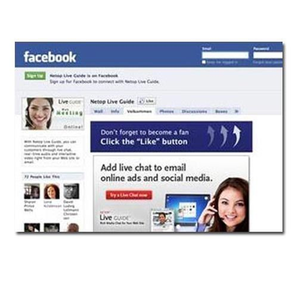 Netop Live Guide image: This software has everything you need to set up a Facebook Fan Page.