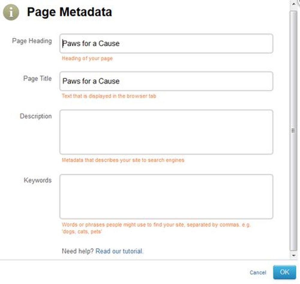 You can insert metadata and SEO keywords when  creating your webpages so your website shows up in search rankings.