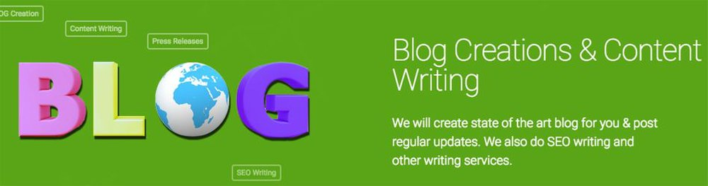 iClimber image: If you need help creating content, iClimber will create blogs for you.