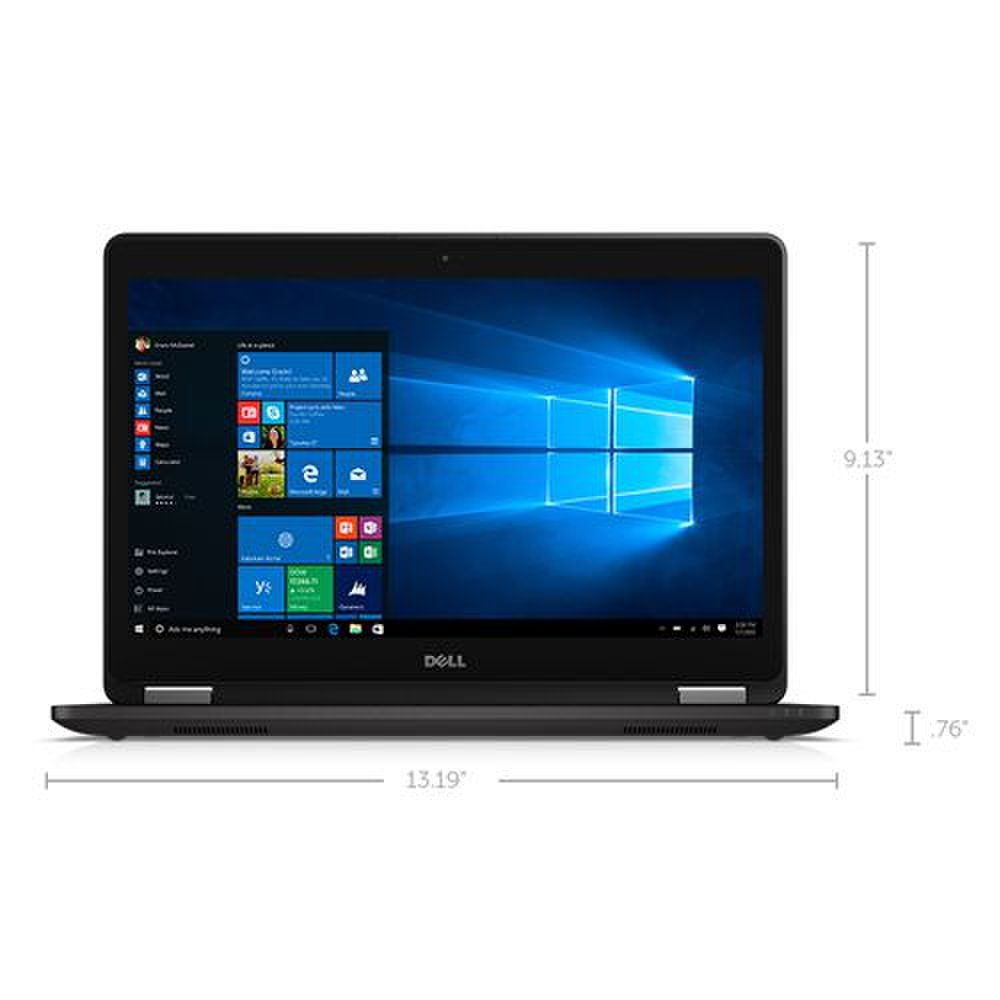 Dell Latitude 14 image: The closed laptop measures 0.8 x 13.2 x 9.1 inches and weighs 3.6 pounds.