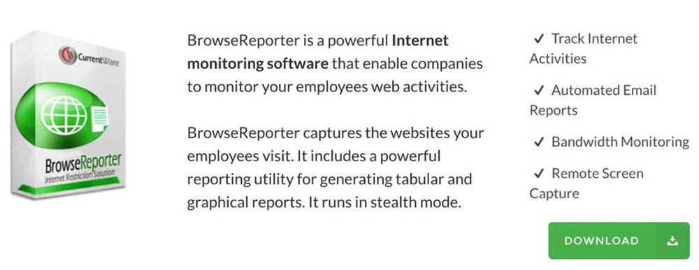 CurrentWare image: You can set the software to send you alerts when employees try to access certain sites.