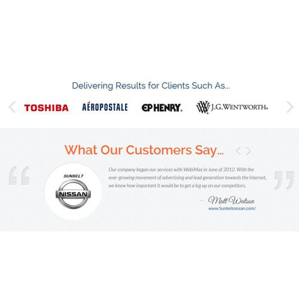 LeadGeneration.com image: You can read testimonials from well-known companies that employ this company's services.