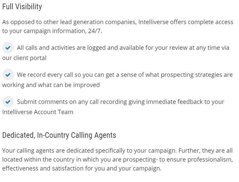 Intelliverse image: You can log in to the client portal at any time to review the activity on your campaign. You can also listen to calls and submit feedback about them.