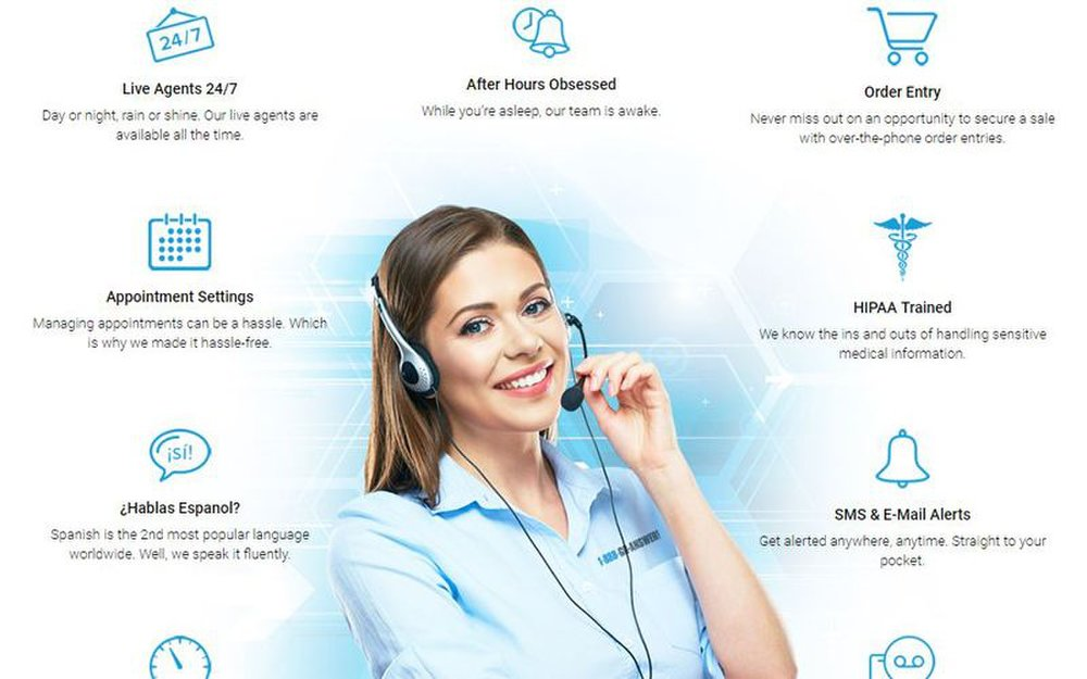 Agents can set appointments, process orders and answer phone calls for you after your normal business hours.