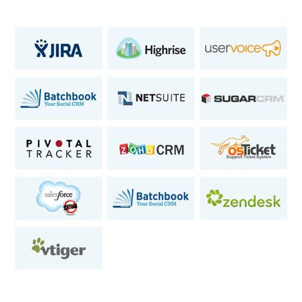 Zopim image: You can automatically integrate many of your business applications with this application.