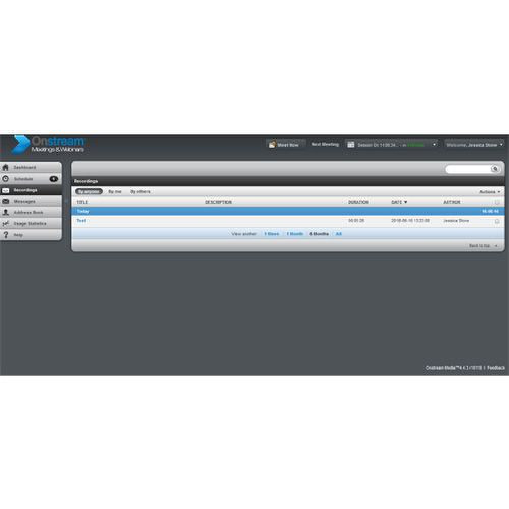 Onstream Media image: The service stores webcast recordings for up to 90 days.