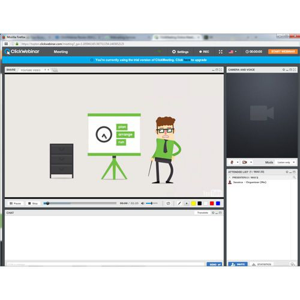 ClickWebinar image: You can integrate YouTube videos directly into your webcast platform.