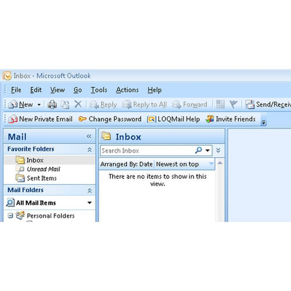 Privato image: This image shows the Outlook toolbar integration.