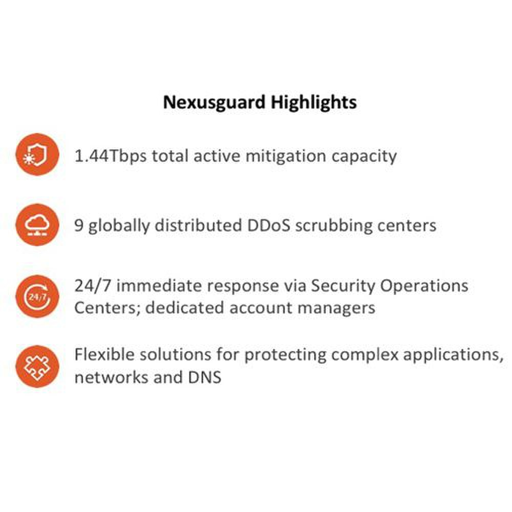Nexusguard ClearDDoS image: The company's website explains the tools it uses for DDoS mitigation.