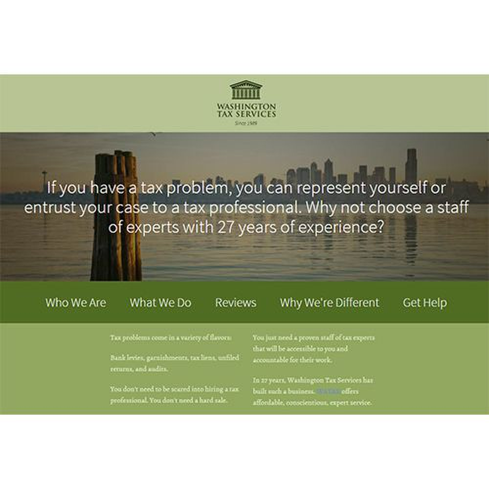 Washington Tax Services image: This company has been in business for over 27 years.