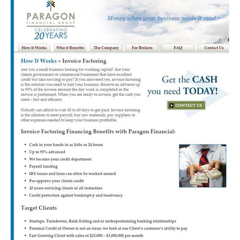 Paragon Financial Review 2019 | Factoring Reviews