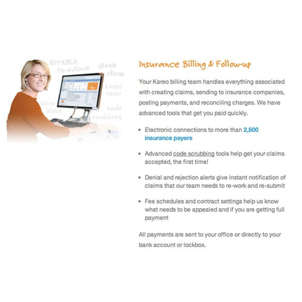 This medical billing service will handle insurance and follow-up tasks for you.