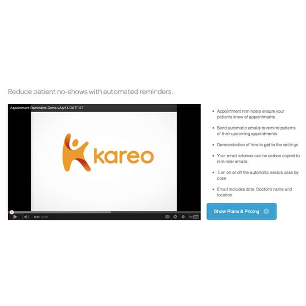 Several demos are available on the Kareo website.