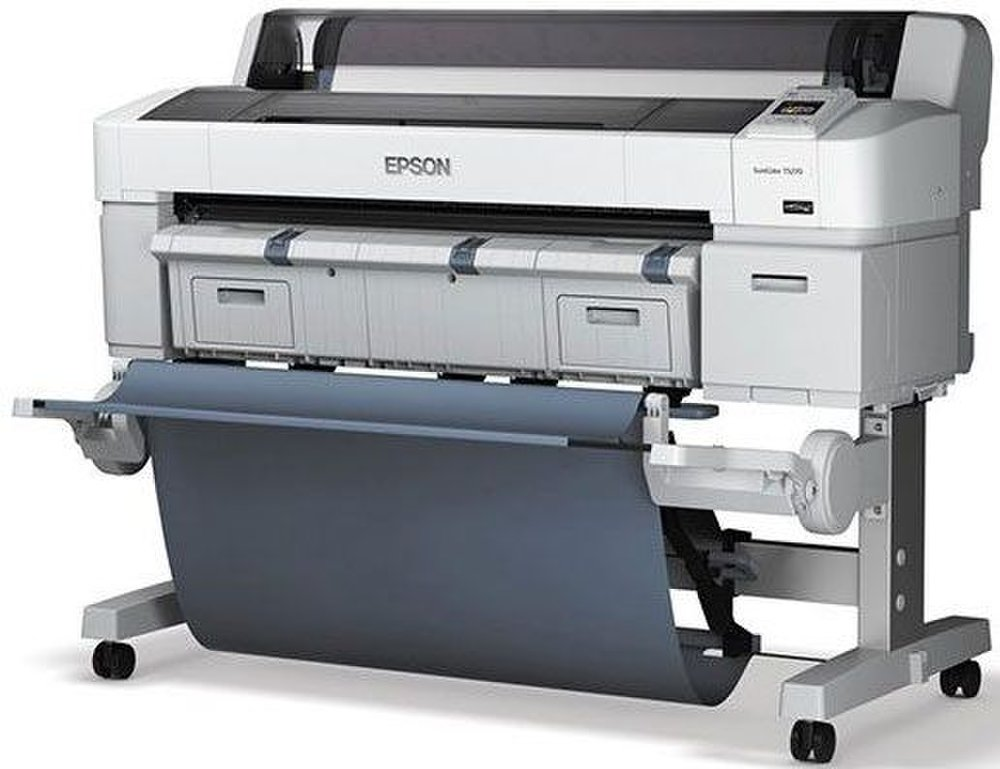 Epson's SureColor T5270 comes with a paper catch for huge posters.