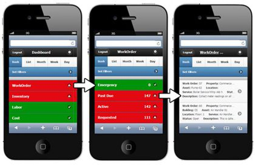 The mobile version of MicroMain lets you quickly view work orders, inventory and available labor with a few swipes on your phone or tablet.