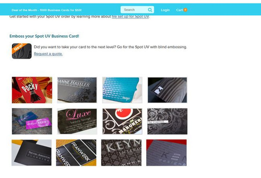 Jukebox Print image: This business card printing service offers spot UV finishing to help you emphasize certain parts of your card.