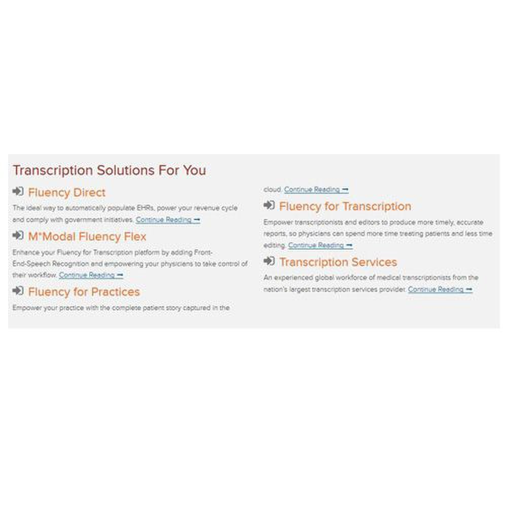 mmodal review  transcription services