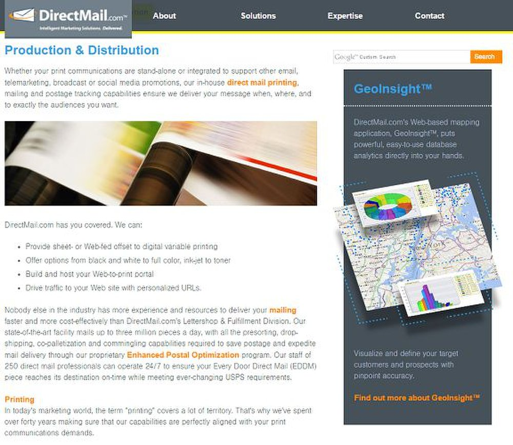 DirectMail.com image: You can retain its printing and mailing services to send out your campaign.
