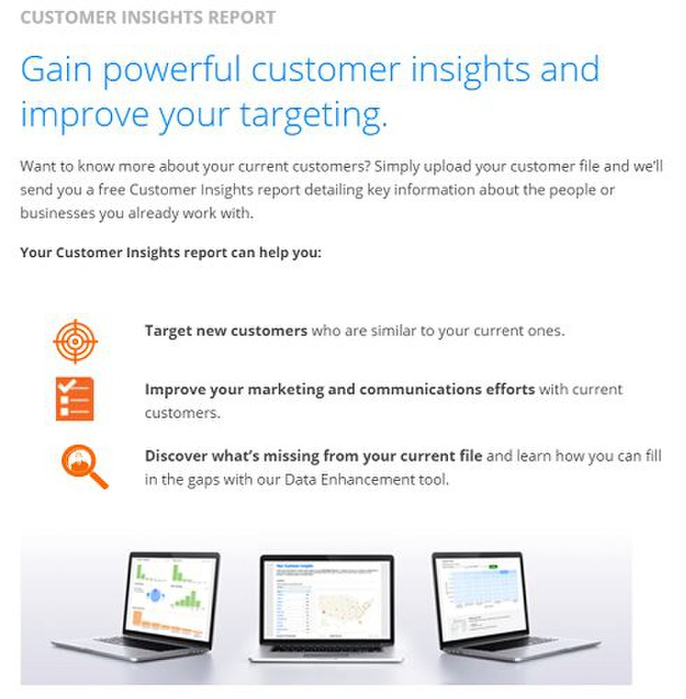 InfoUSA image: The broker can help you better identify your audience by analyzing your customer data and previous campaigns.