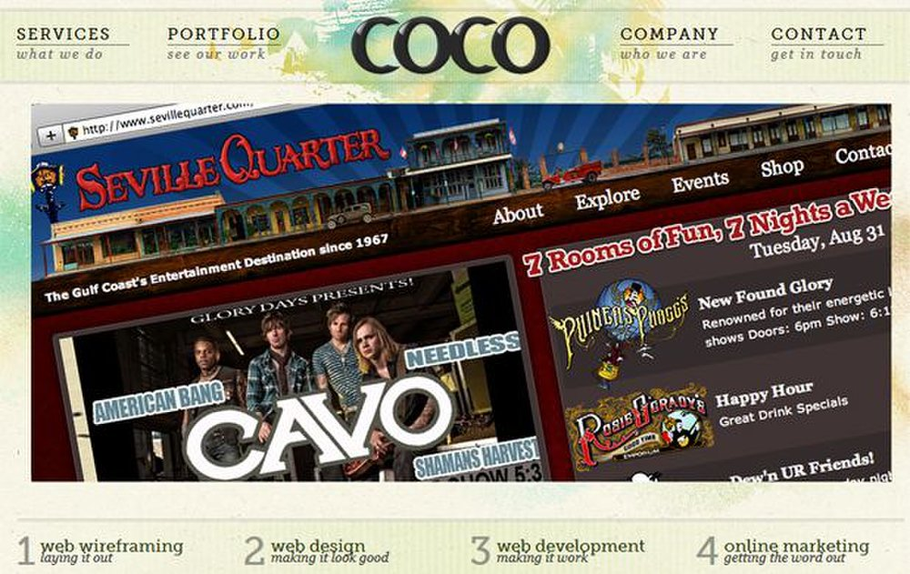 Coco Design image: This website design business has been creating websites for a variety of companies for more than 20 years.