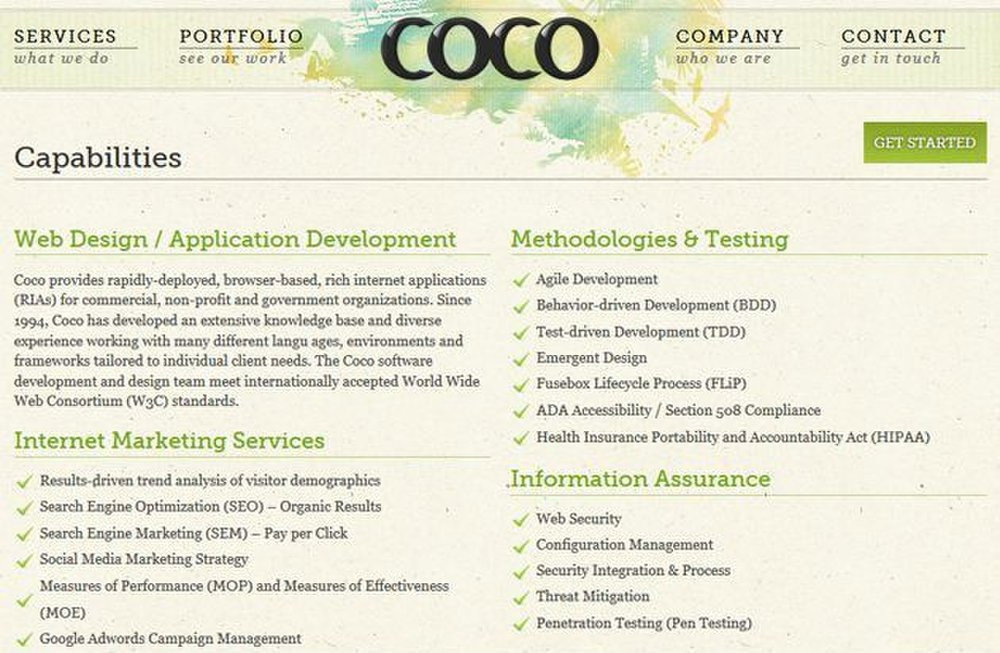 Coco Design image: This web design company offers more than just design; it can also offer analysis of your site as it is and determine your audience.