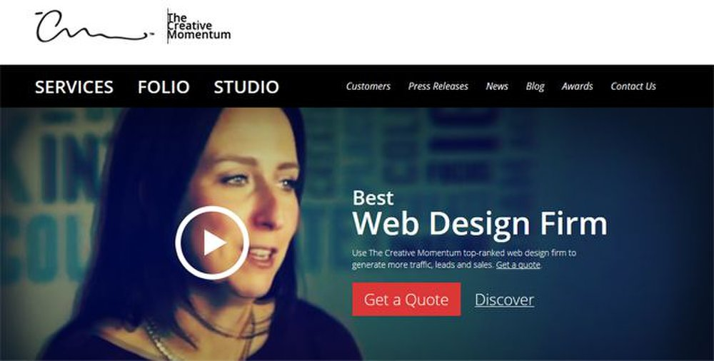 The Creative Momentum image: You can get more than just a newly designed website from this web design company, including marketing plans.